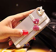 Pink Butterfly with Diamond Hard Back Cover  for iPhone 4 /  iPhone 4S