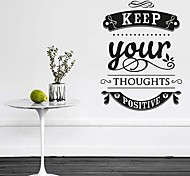 JiuBai® Keep Positive Inspiration Quote Wall Sticker Wall Decal, 57CM*78CM