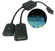 micro usb cable OTG anfitrión&carga de energía del usb para samsung galaxy s3 / s4 / Nota 3