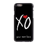 Personalized Phone Case - X O Design Metal Case for iPhone 6 Plus