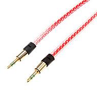 1m 3.28ft Audio 3,5 mm Stecker auf 3,5 mm Audio-Stecker-Kabel für Handy und Auto aux