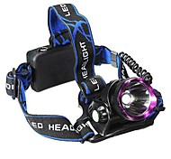 Headlamps LED 3 Mode 2500 Lumens Waterproof / Rechargeable Cree XM-L2 U2 18650Camping/Hiking/Caving / Everyday Use / Cycling / Hunting /