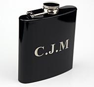 courbe de cadeau personnalisé flacon noir 6 oz monogramme