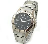 Men's Calendar Round Dial Steel Band Analog Quartz Wrist Watch (Assorted Colors)
