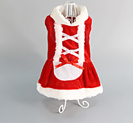 Pet Puppy Dog Christmas Costume Coat Clothes Skirt Dress (Assorted Sizes)