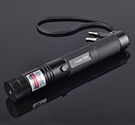 alto potere jd303 raggio verde puntatori laser regolabile penna (5mw, 532nm, 1x18650 batterie + caricabatteria) nero