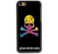 Personalized Phone Case - Unique Skull Design Metal Case for iPhone 5C