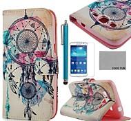 coco fun® campanelli eolici modello pu custodia in pelle con la protezione dello schermo e lo stilo per Samsung Galaxy Grand 2 g7106