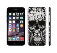 SKINAT cell phones sticker for iPhone 6(hide logo) back decals stickers barbarous Skeleton mobile phone stickers