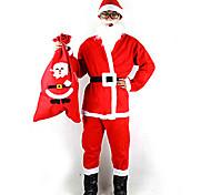 Costume di Natale Babbo Natale Uomo con la barba (per altezza 170-180cm)