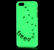Free Pattern Glow in the Dark Hard Case for iPhone 4/4S