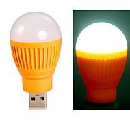 Ball Bulb Shaped Super Bright USB Powered Mini LED Night Light (Orange)