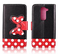For LG Case Card Holder / Wallet / with Stand / Flip Case Full Body Case Tile Hard PU Leather LG