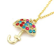 Korean Version Of the Diamond Mushroom Umbrella Necklace