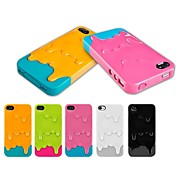Two Colors Design Ice Cream PC Hard Case for iPhone 4/4S (Assorted Colors)