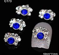 10pcs Rhinestone Group Glitter Blue DIY Alloy Accessories Nail Art Decoration