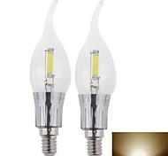 Lâmpada Vela W 400LM LM 3500K K Branco Quente 1 LED de Alta Potência 2 pçs AC 100-240 V