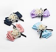 1PC Korean Pearl and Bowknot Barrette(Random Color)
