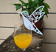 12pcs Laser Cut Bird Cup Cards Name Place Escort Card for Wine Glass Wedding Christmas Baby Shower Party Decorations