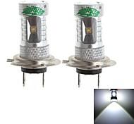 zweihnder h7 30w 2800lm 6000-6500k 6x3535 SMD LED ampoule blanche pour la voiture antibrouillard (12-24, 2 pièces)