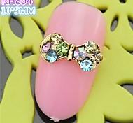 10pcs spéciale strass de luxe de conception papillon 3d alliage nail art rh894 bricolage ongles vernis beauté décoration des ongles manucure