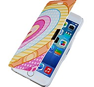 Gradient Heart Magnetic Flip Full Body Case with Hole for iPhone 6