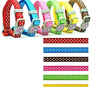 1.0cm Classic Grid Styles Fashion Nylon Collar for Cats (assorted colours)