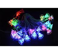 LED 5W-20 rgb 3-el modo de luz de colores cadena modelo de campana de Navidad (220v / 2-round-pin enchufe)