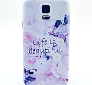 A Beautiful Life Pattern TPU Soft Case for S5 I9600