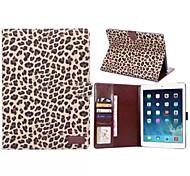 modello del leopardo custodia in pelle corpo pieno con slot per schede e stand per l'aria iPad 2 (colori assortiti)
