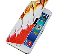Feather Pattern Magnetic Flip Full Body Case with Hole for iPhone 6