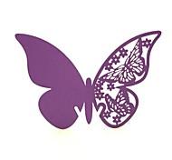 12pcs farfalla di carta nome tazza posto della carta tagliata a laser