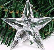 Christmas Tree Decoration Ransparent Acrylic Flashing LED Star Pendant