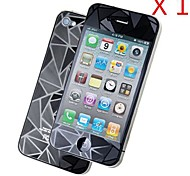 3D Diamond Front + Back  Screen Protector for iPhone 4/4S (1PCS)