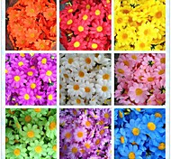 50pcs 4cm 10Colors Artificial Silk Sun Flower Daisy Head Home Wedding Party Favors Decorations Table Centrepieces