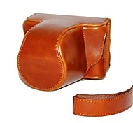 Dengpin Retro PU Leather Camera Case Bag Cover Skin with Shoulder Strap for Pentax Q-S1 QS1