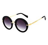 Anti-Reflective Women's Round Aluminum Lightweight Sunglasses