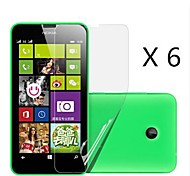(6 Stück) High-Definition-Display-Schutz für Nokia Lumia 630/635