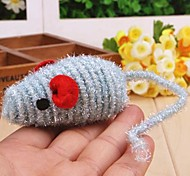 Stripe Pattern Mouse Shaped Sisal Toys for Pet Cats(Random Colour)