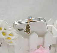 Fashion Delicate Owl Shape Alloy Diamante Anti-dust Plug for Universal Mobile Phone