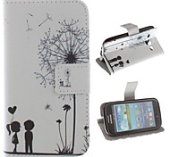 The Dandelion Lover Design PU Leather Full Body Protective Case with Stand for Samsung Galaxy Core I8262