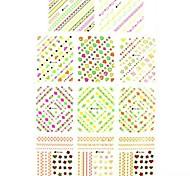 1 * 11pcs adesivi stampa del chiodo di trasferimento dell'acqua 3d decalcomanie stelle per le decorazioni di arte del chiodo del chiodo (25 * 16 * 0,1