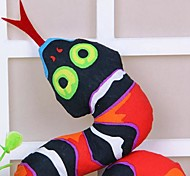 Dog Toy Pet Toys Chew Toy Snake Black Textile