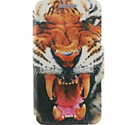 For Nokia Case Card Holder / Flip Case Full Body Case Animal Hard PU Leather Nokia Nokia Lumia 520