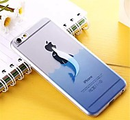 Ocean Pattern TPU Soft Cover for iPhone 6 Plus