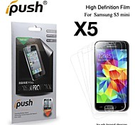 (5 Pieces) High Transparency HD LCD Screen Protector for Samsung Galaxy S5 Mini