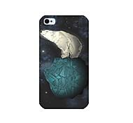 bianco modello dell'orso di caso per iPhone 4 / 4S