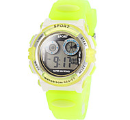 Children's LED Back;ight Silicone Band Digita Sport Watch (Assorted Colors)