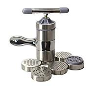 Портативная машина из нержавеющей стали, для приготовления пасты, с пятью формами