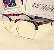 [Free Lenses] Metal Square Full-Rim Fashion Prescription Eyeglasses